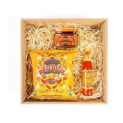 Amélio Presentes - Kit gourmet mexicano com nachos e pimenta