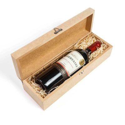 Kit vinho na caixa de madeira - Amélio Presentes