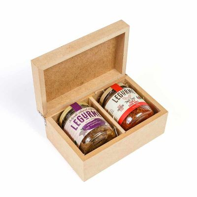 Aperitivo Gourmet com caixa de madeira