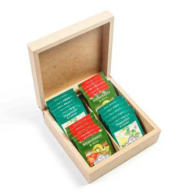 Amélio Presentes - Kit com chá gourmet em caixa de MDF