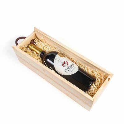 Kit Vinho na caixa de pinus