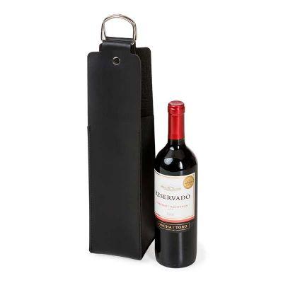 Estojo para vinho em couro sintético Bidins
