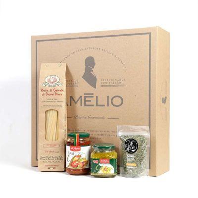amelio-gourmet - Kit Gourmet com massa italiana, molho, tempero e aperitivo