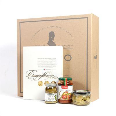 Amélio Gourmet - Kit Gourmet com massa especial italiana, molho vermelho e aperitivos