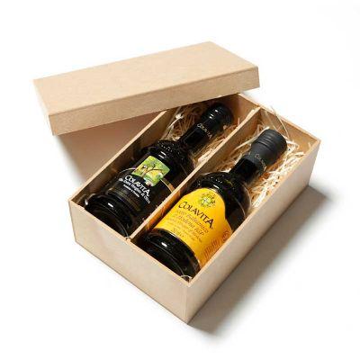 Amélio Presentes - Kit com Azeite Extra Virgem italiano e Vinagre Balsâmico Italiano
