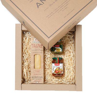 Amélio Gourmet - Kit Gourmet com massa especial italiana, molho pesto e aperitivo