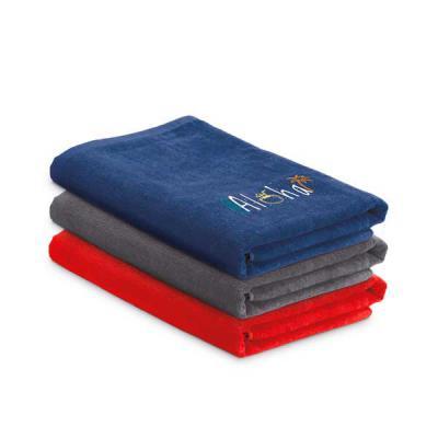 vigui-promo - Toalha de praia. Veludo de algodão: 320 g/m². Fornecida com sacola em non-woven (80 g/m²). 1500 x 750 mm | Sacola: 330 x 415 x 100 mm