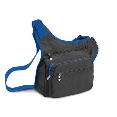 Bolsa á tiracolo com bolso externo.