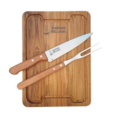 royal-laser - Kit churrasco tábua, garfo e faca Tramontina 7