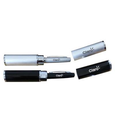royal-laser - Caneta executiva acondicionada em tubo de alumínio. disponível em prata ou preto. gravação da logo a laser no tubo e na caneta. Acompanha embalagem pa...