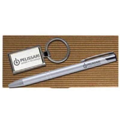 royal-laser - Conjunto caneta e chaveiro