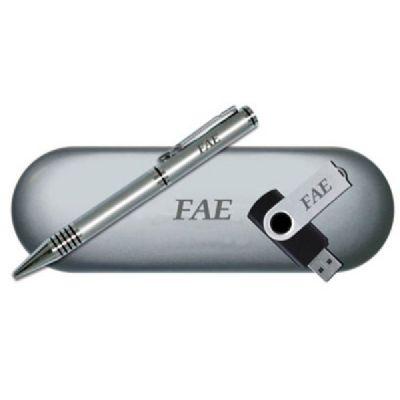 Royal Laser - Kit escritório personalizado com caneta, pen drive e estojo.