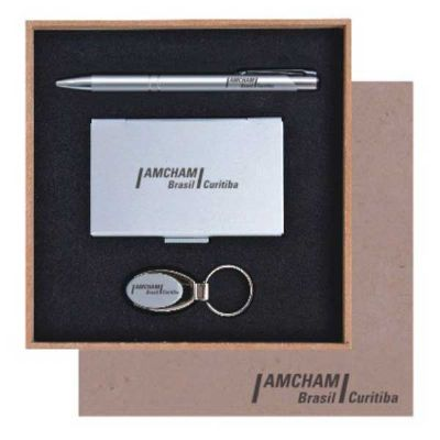royal-laser - Kit caneta, porta cartão e chaveiro