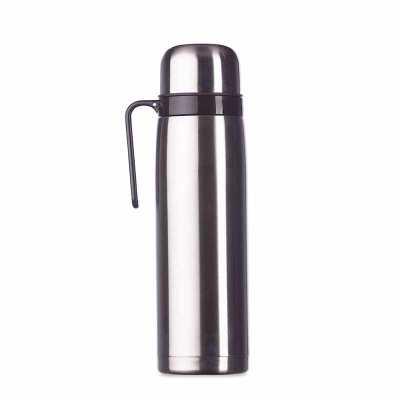 msn-brindes - Garrafa térmica 1 litro em inox com alça plástica preta. Possui tampa rosqueável, tampa interna rosqueável com bico plástico vermelho. Altura :  30 cm...
