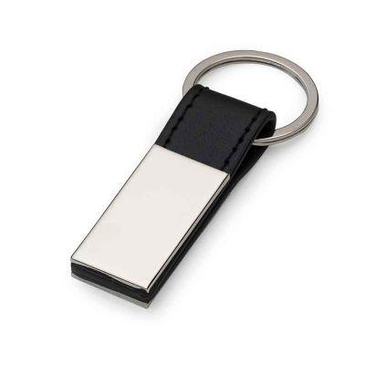 msn-brindes - Chaveiro Metal com Couro 10026