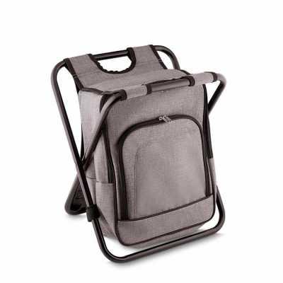 msn-brindes - Bolsa térmica 25 litros com conversão em cadeira. Bolsa confeccionada em nylon, possui compartimento principal térmico e um bolso frontal. Armação de...
