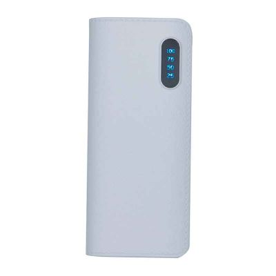 Power bank plástico com níveis - MSN Brindes