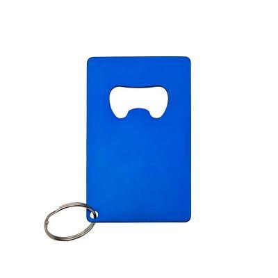 Chaveiro abridor metálico formato cartão