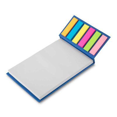 msn-brindes - Bloco de anotações ecológico com sticky notes. Capa colorida, possui 6 bloquinhos autocolantes coloridos com aproximadamente 20 folhas e bloco branco...