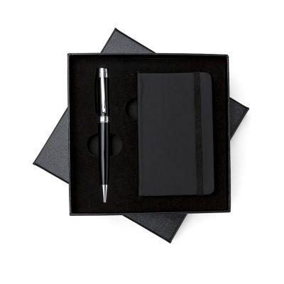 msn-brindes - Kit executivo 2 peças em estojo de papelão com tampa e parte interna revestida de espuma.