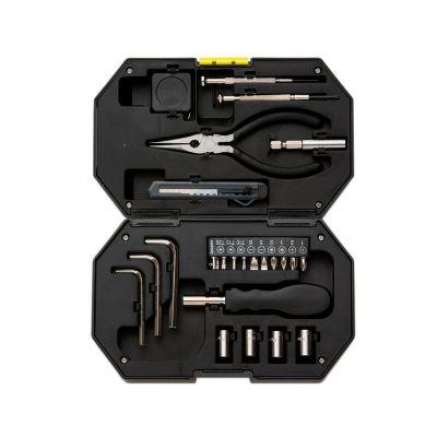 Kit ferramenta 24 peças com lanterna acoplada no estojo. - MSN Brindes