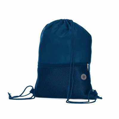 msn-brindes - Mochila saco confeccionada em poliéster. Possui compartimento principal superior, bolso frontal de malha com zíper e saída para fone de ouvido. Altura...