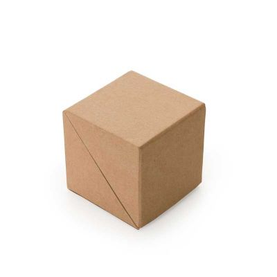 Bloco de anotações ecológico formato cubo