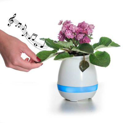msn-brindes - Caixa de som vaso com sensor e Bluetooth