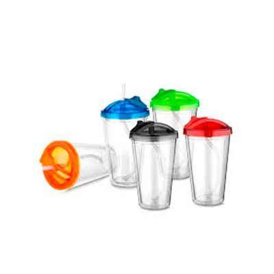 MSN Brindes - Copo de plástico parede dupla
