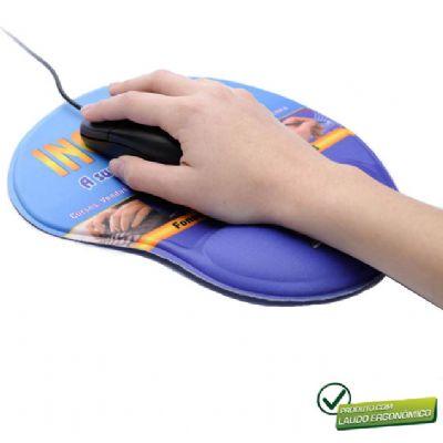 Mouse pad ergonômico personalizado - MSN Brindes
