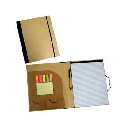 MSN Brindes - Pasta de convenção ecológica com bloco de anotações