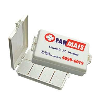 msn-brindes - Porta comprimido com 8 divisões. Tamanho: 2x6x8,5cm