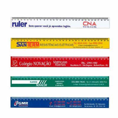 Régua Plástica 30cm - MSN Brindes