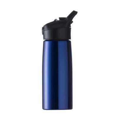 msn-brindes - Squeeze inox 700ml com pintura metalizada, tampa plástica com alça e botão. Basta pressionar para sair o bico do protetor. Altura :  24cm Largura :  9...