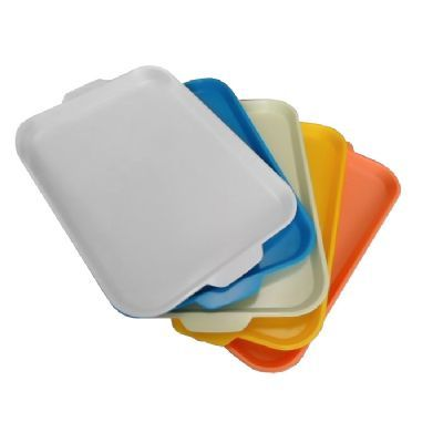 Bandeja. Cor: Branco, bege, cristal colorido Tamanho: 397x265x20mm Venda e granel com etiqueta