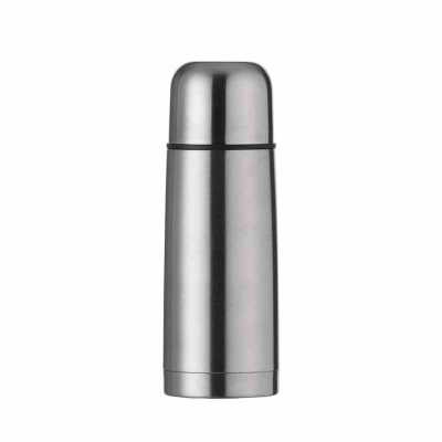 cross-brindes - Garrafa térmica 350ml em inox com tampa rosqueável, tampa interna em plástico resistente(basta um clique para abrir ou fechar). Acompanha capa proteto...