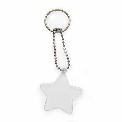 Chaveiro plástico formato estrela transparente. - Cross Brindes