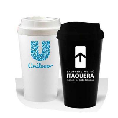 Copo Cancum Mug Standart De 320 ml com Tampa Personalizado