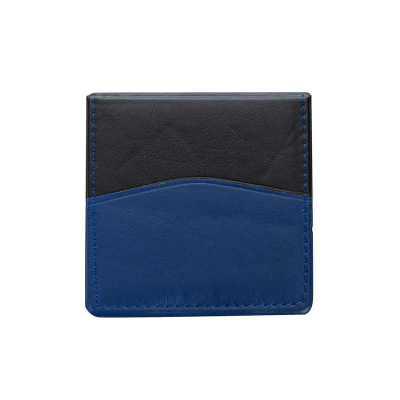 Bloco de anotações de material sintético com detalhe na capa, parte interna com bolso plástico e ...