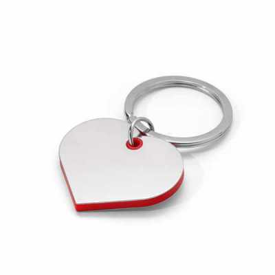 cross-brindes - Chaveiro coração. Metal e ABS. 42 x 34 x 4 mm