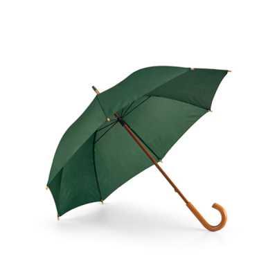 cross-brindes - Guarda-chuva. Poliéster 190T. Haste e pega em madeira. ø1040 mm   885 mm