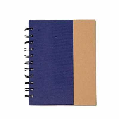 Bloco de anotações com autoadesivos e caneta ecológica. Bloco kraft com capa colorida texturizada...