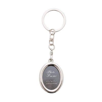 cross-brindes - Chaveiro porta foto oval personalizado