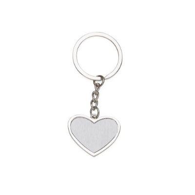 cross-brindes - Chaveiro metal coração promocional
