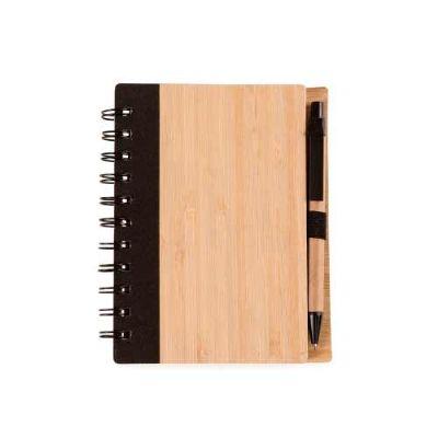 Cross Brindes - Bloco de Anotações Bambu com Caneta Personalizada