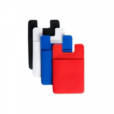Cross Brindes - Adesivo plástico porta cartão para celular, basta remover o selo traseiro e colar a parte adesivada no celular. Material de pvc (material mais espesso...