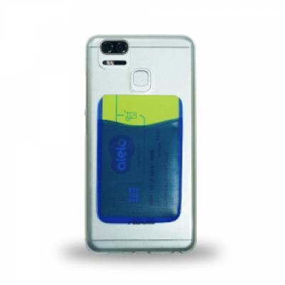Adesivo porta cartão para celular, basta remover o selo traseiro e colar a parte adesivada no cel...