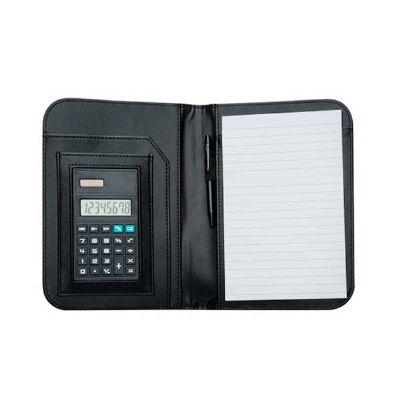 Cross Brindes - Bloco de anotações com calculadora e caneta personalizada