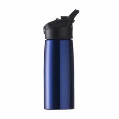 Squeeze inox personalizado 700ml com pintura metalizada, tampa plástica com alça e botão. Basta p...