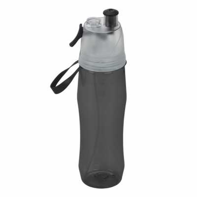Squeeze de plástico personalizado 700ml brilhante com borrifador. Possui tampa plástica resistent...